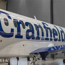 Cranfield livery on the new Saab 340b