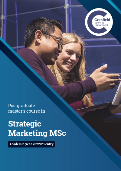 Strategic Marketing MSc brochure