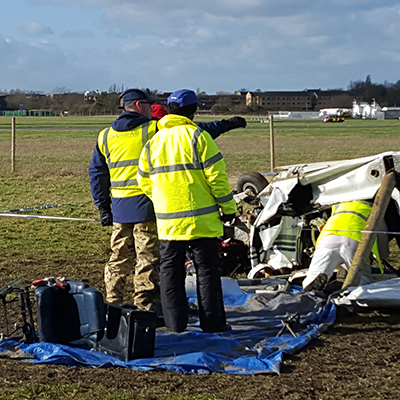 Airplane accident investigation