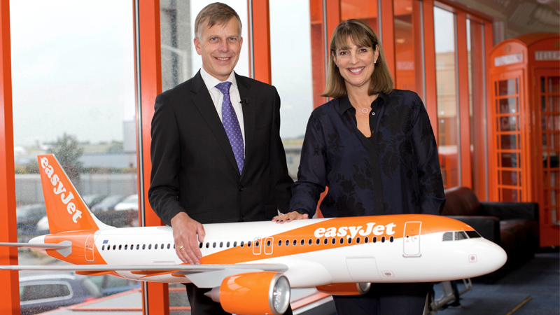 Sir Peter Gregon and easyJet CEO, Carolyn McCall