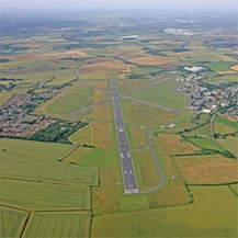 Cranfield airport from above