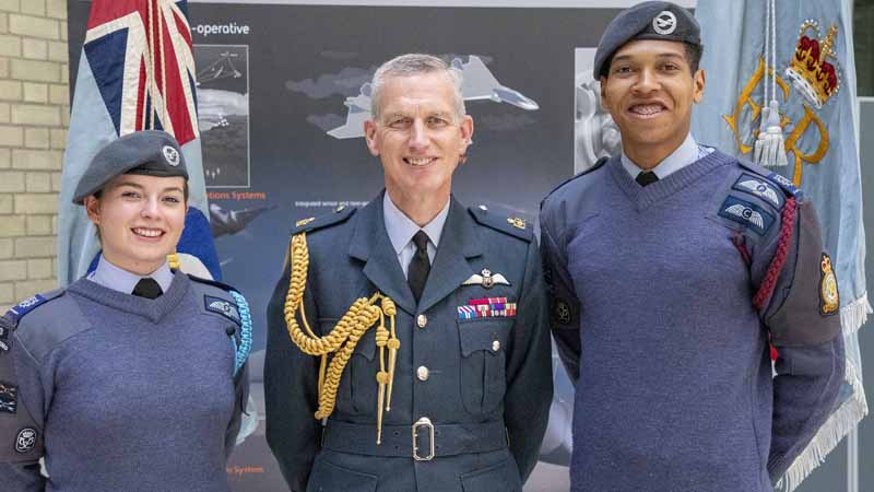 Stephen Hillier, Chief of the Air Staff with cadets