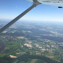 plane wing aerial view