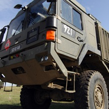 Armed forces truck.