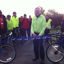 Cranfield's cycle path is officially opened