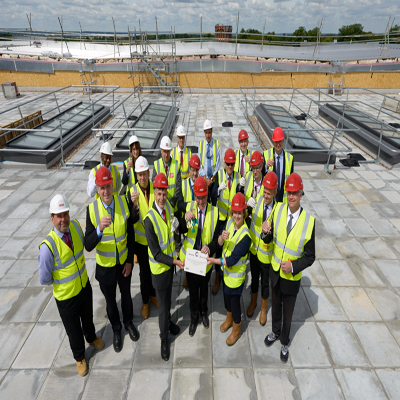 AIRC topping out ceremony