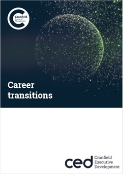 Career Transitions with Cranfield Executive Development
