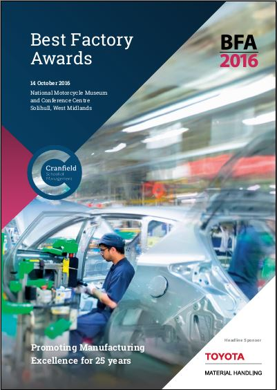 Best Factory Awards Winners Brochures 2016