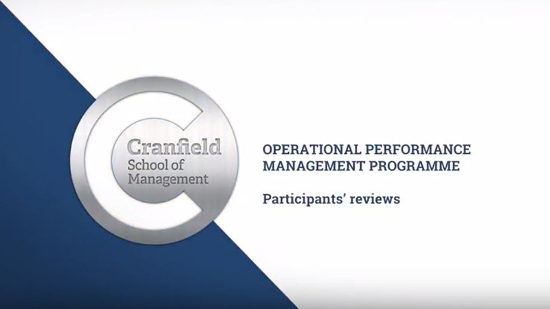 Operational Performance Management Programme
