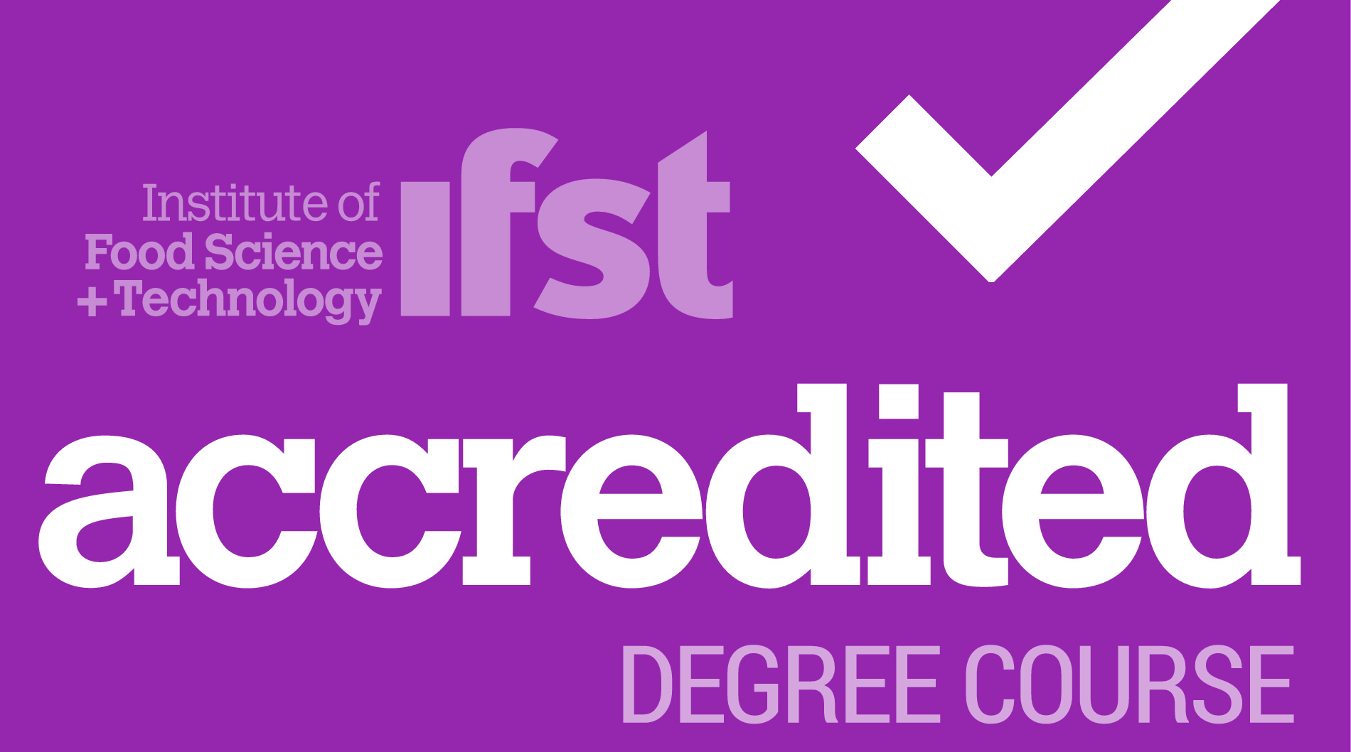 IFST approved degree logo