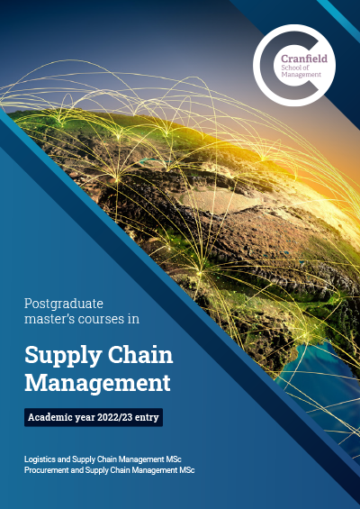 Supply Chain Management MSc brochure