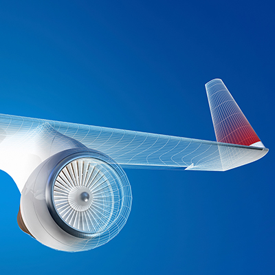 Airplane wing design graphic