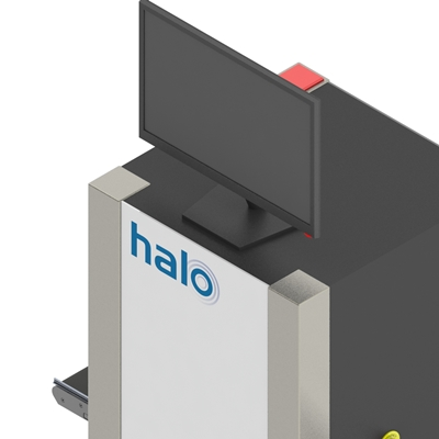 Halo airport security scanner sketch