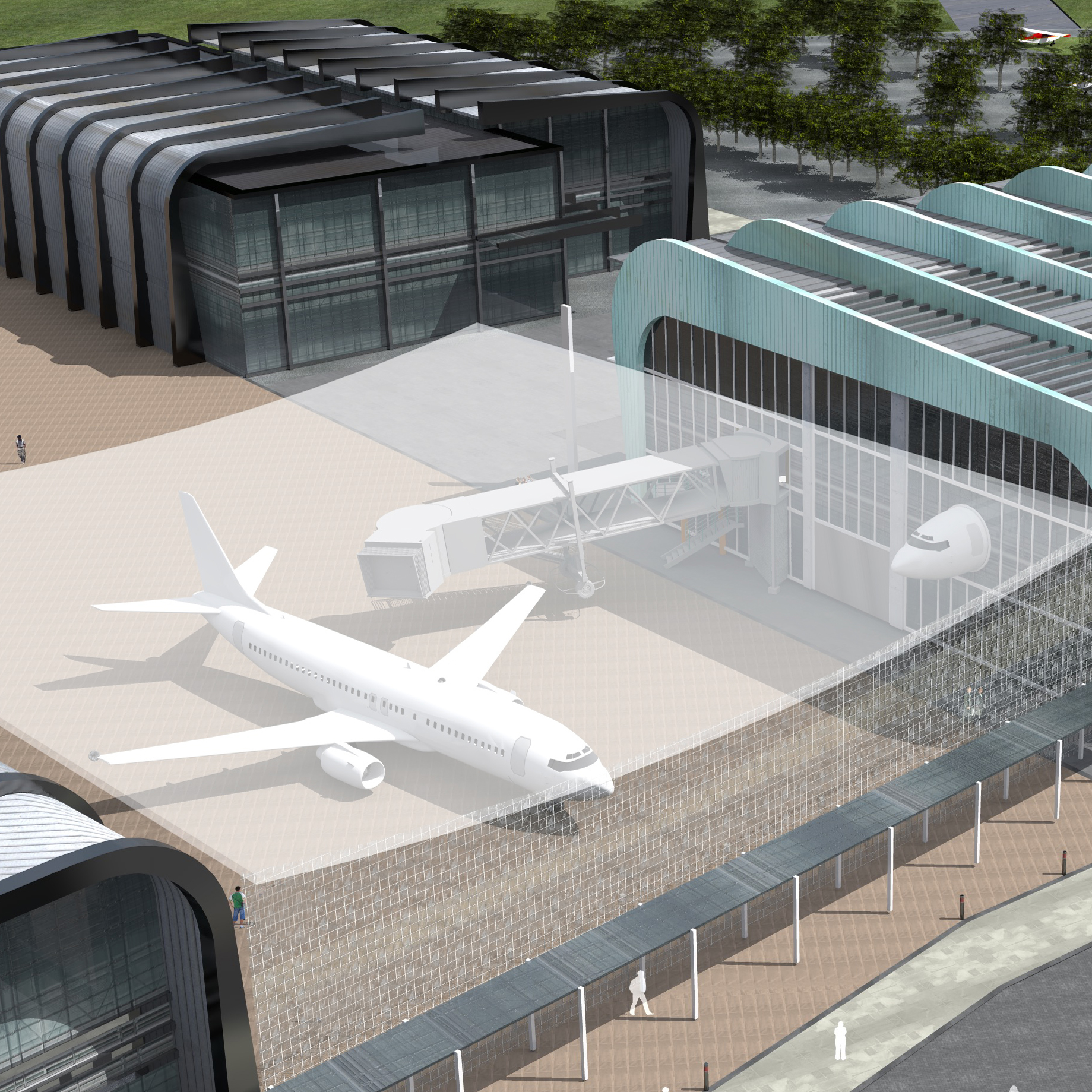 Design image of new Digital Aviation Research and Technology Centre