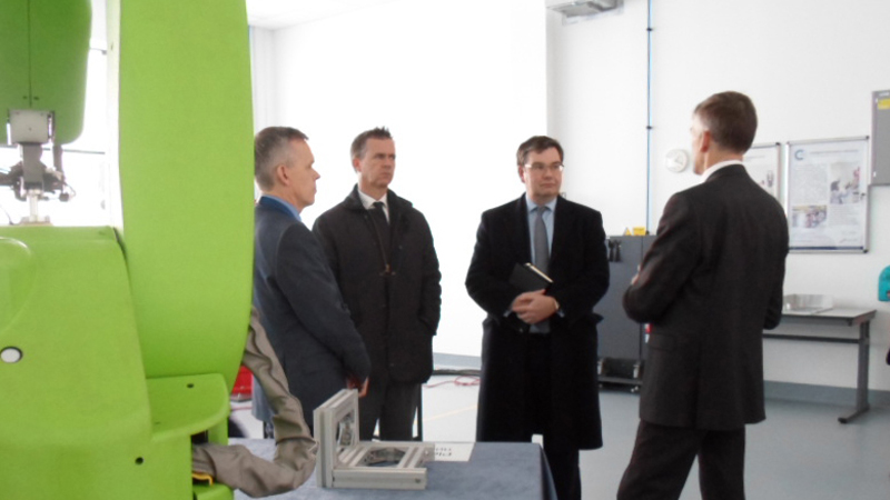 Local MPs visit AIRC robotics
