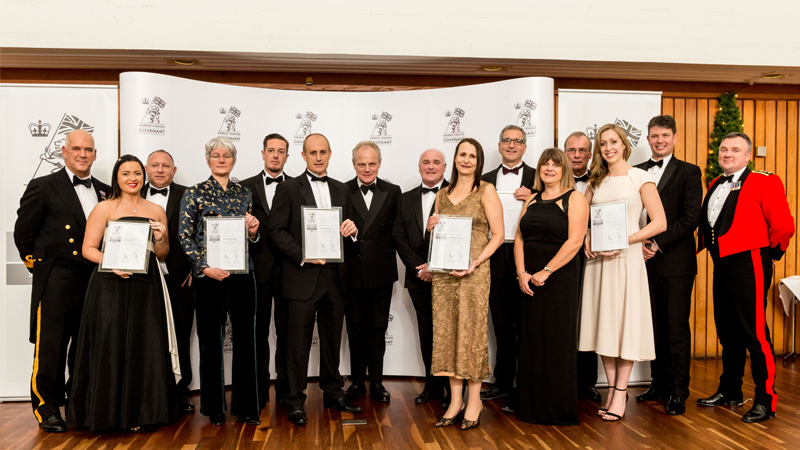 All winners of the Armed Forces Employer Recognition Scheme Silver award
