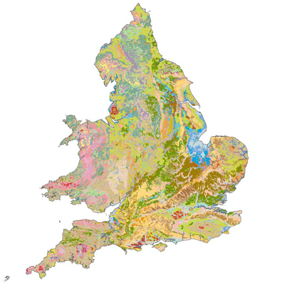 Soil map of England and Wales
