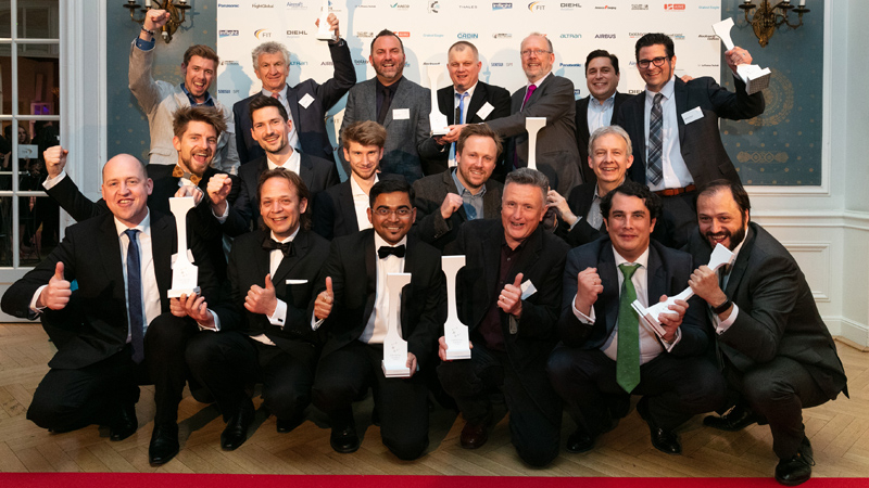 All winners at the Crystal Cabin Awards 2018