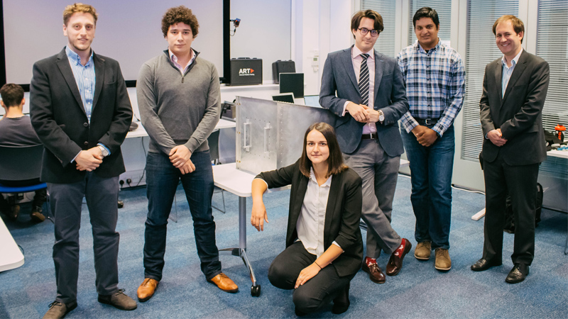 Students who have been working on Mixed Reality with Marshall Aerospace Defence Group