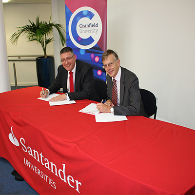 Sir Peter Gregson and Matt Hutnell signing the agreement