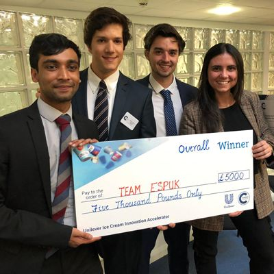 Winning group of Cranfield students, ESPUK