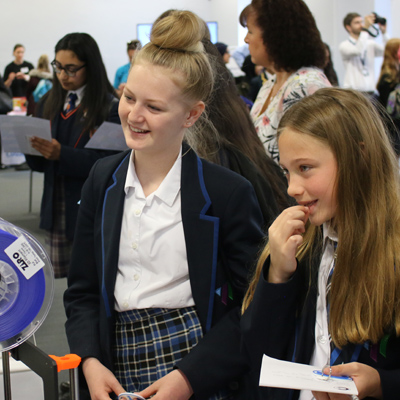 Students at Aim High International Women in Engineering 2019 event
