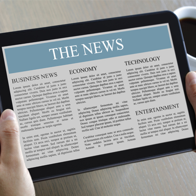 ipad with news