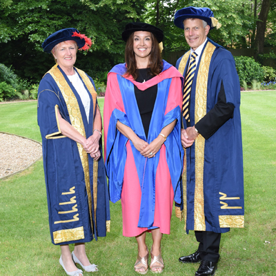 Sarah Willingham at the Cranfield University Graduation ceremony 2018