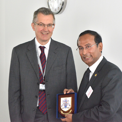 Professor Tom Stephenson with Mr Satya Widya Yudha