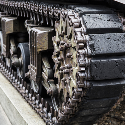 Close up tank tread
