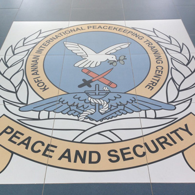 Peace and security floor mural