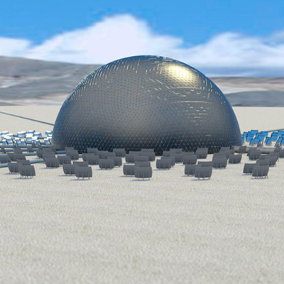 Sesalination dome in the desert