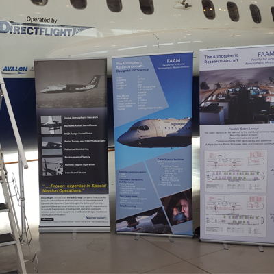 Plane with FAAM posters