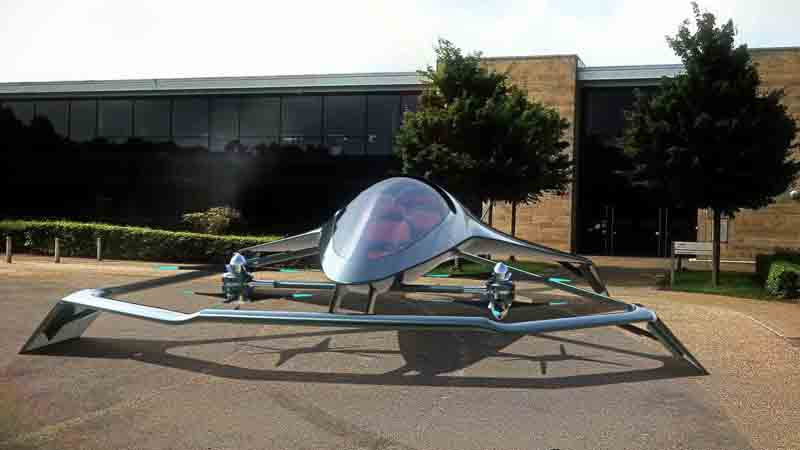 The Volante Vision Concept, an flying autonomous hybrid-electric vehicle.
