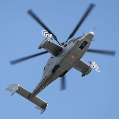 The X3 demonstrator, a prototype of the compound rotorcraft, shown at ILA Berlin Air Show 2012