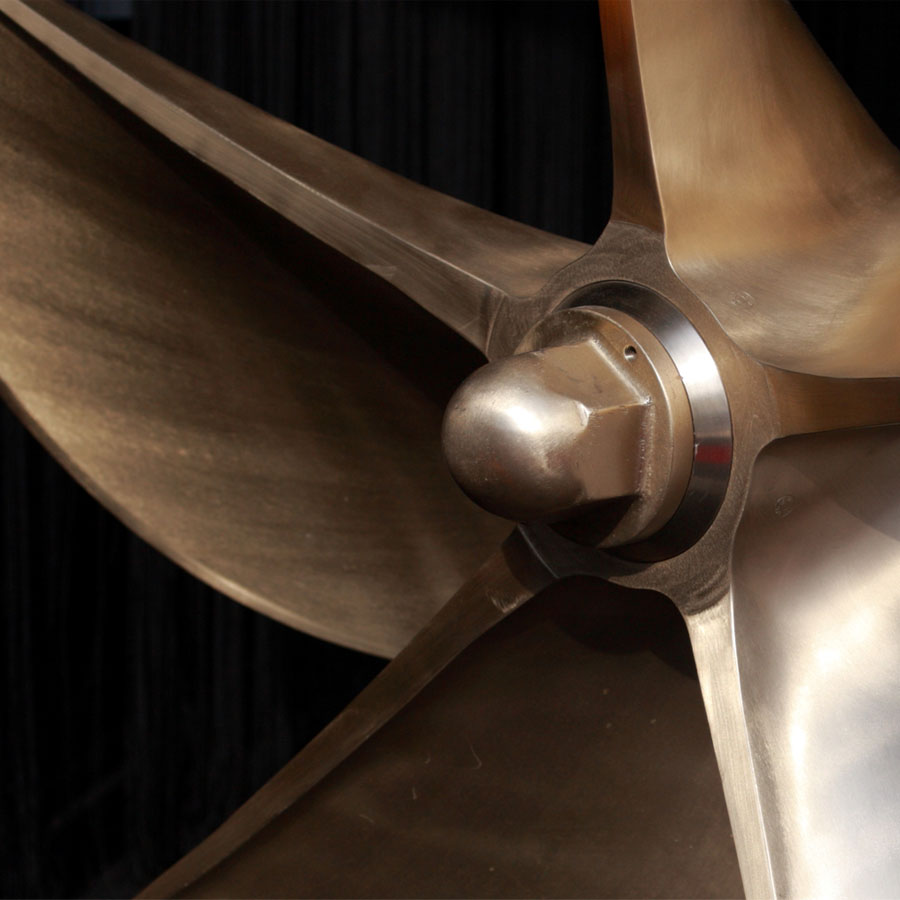 Close up of marine propeller