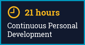 21 hours Continuous Personal Development