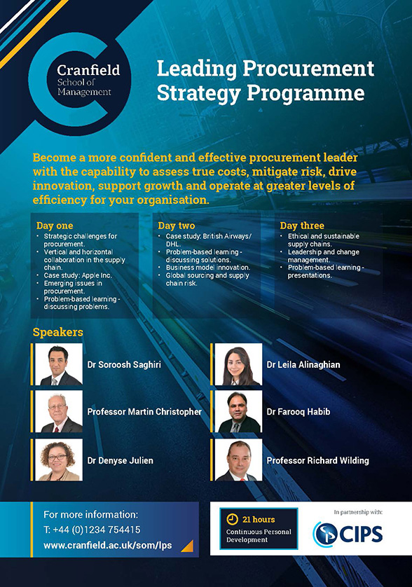 Leading Procurement Strategy Agenda 2018