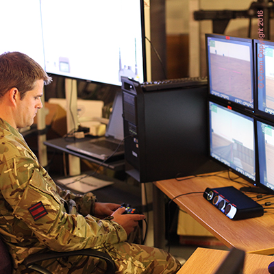 Defence Simulation Computer being used
