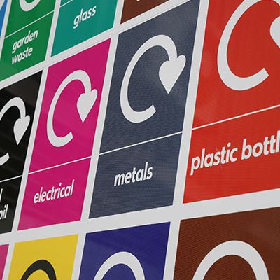 recycle sign - energy from waste