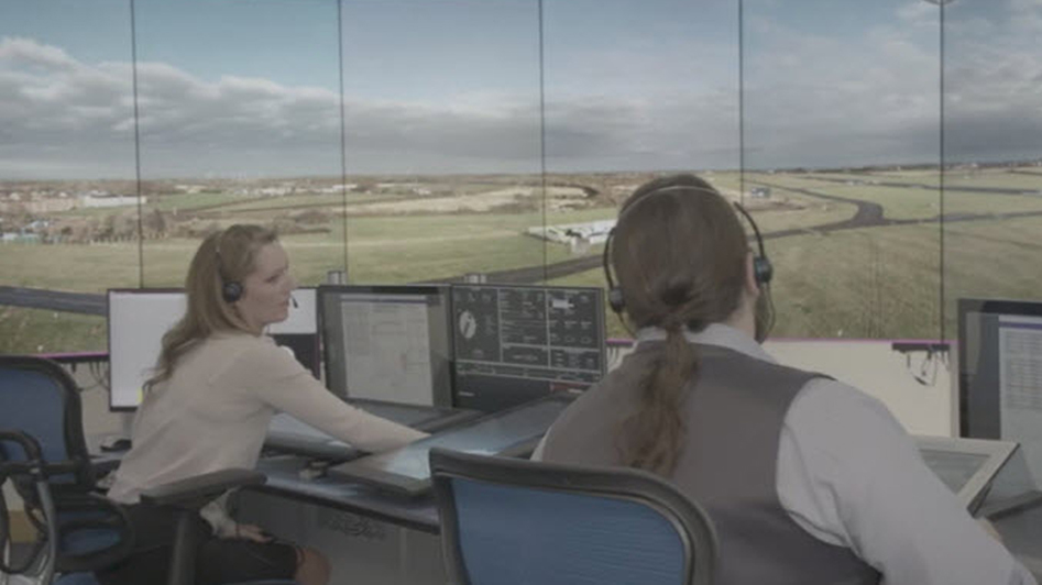 Staff in air traffic control tower