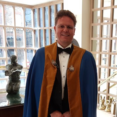 Professor Mark Jolly before being made a Liveryman of the Worshipful Company of Founders of the City of London.